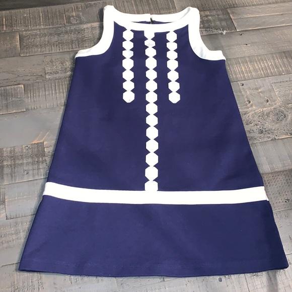 Gymboree Navy Blue & White Shift Dress NWOT Sz 7 NWOT